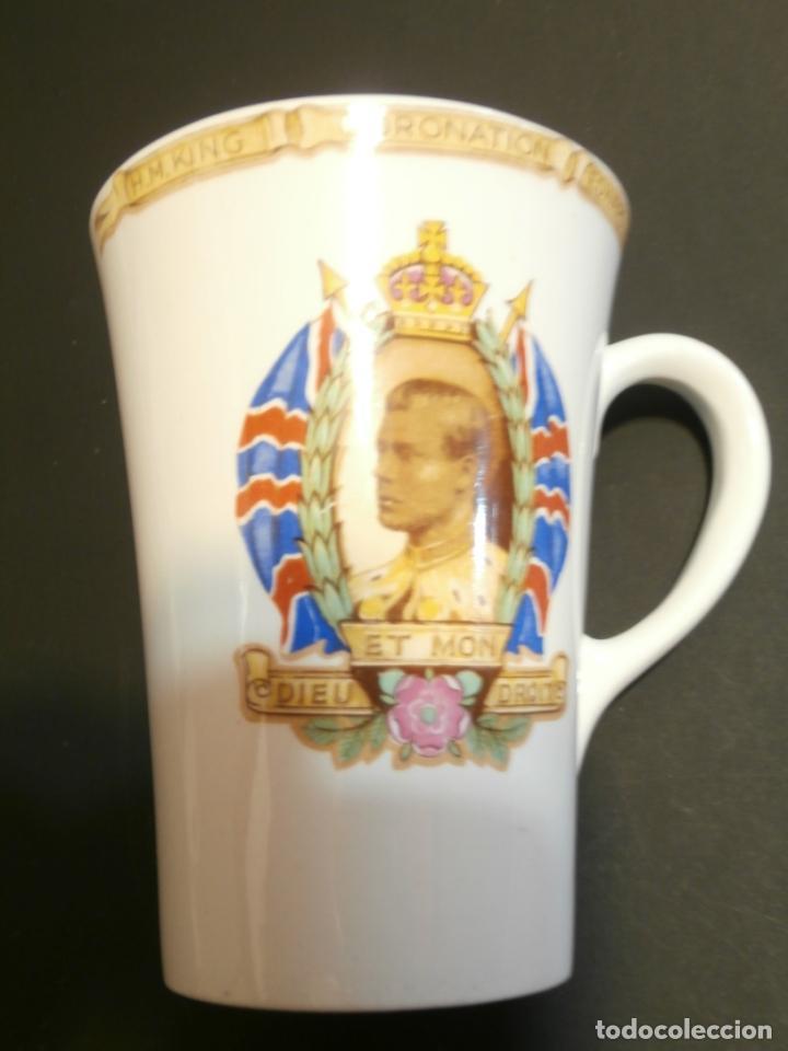 TAZA CONMEMORATIVA CORONATION KING EDWARD VIII (Antigüedades - Cristal y Vidrio - Inglés)
