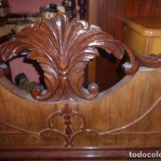 Antigüedades - CABEZAL DE MADERA TALLADA Y RAIZ - 76063519