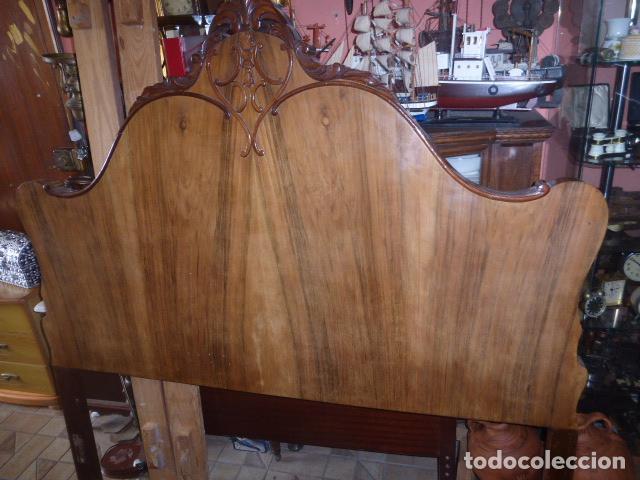 Antiguo cabecero de contra chapado de raiz y ma comprar - Cabeceros de cama antiguos ...
