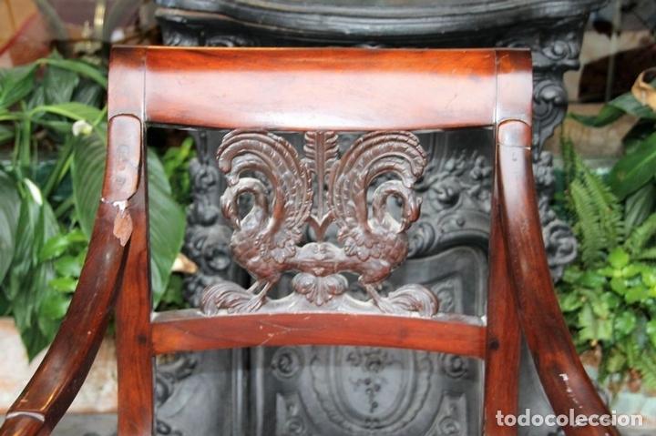 Antigüedades: SILLÓN IMPERIO. MADERA DE CAOBA. ESPAÑA. CIRCA 1820. - Foto 6 - 76066043