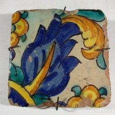 Antigüedades: AZULEJO VALENCIANO FLORES DEL XVIII. Lote 76074771