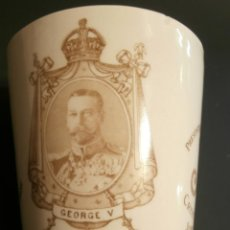Antigüedades: VASO CONMEMORATIVO CORONATION GEORGE V AND QEEN MARY. Lote 76075599