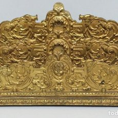 Antigüedades: SOBERBIO PORTACARTAS DE BRONCE DORADO. SIGLO XIX. Lote 76083003