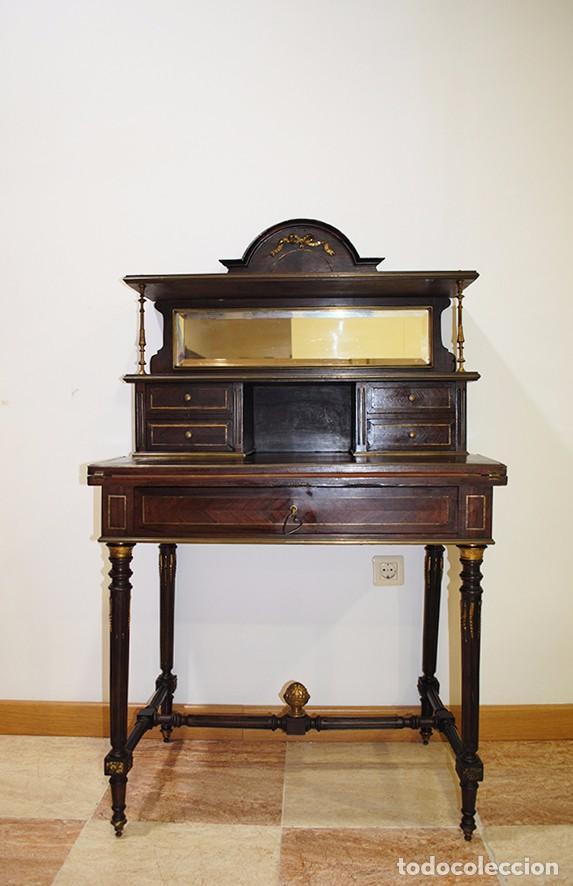Escritorio antiguo en madera de caoba estilo im comprar for Muebles estilo imperio