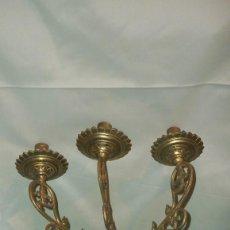 Antigüedades: CANDELABRO DE TRES BRAZOS SG XIX. Lote 76153555