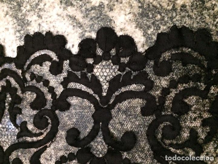 Antigüedades: Mantilla negra 200x72cm - Foto 3 - 76193303