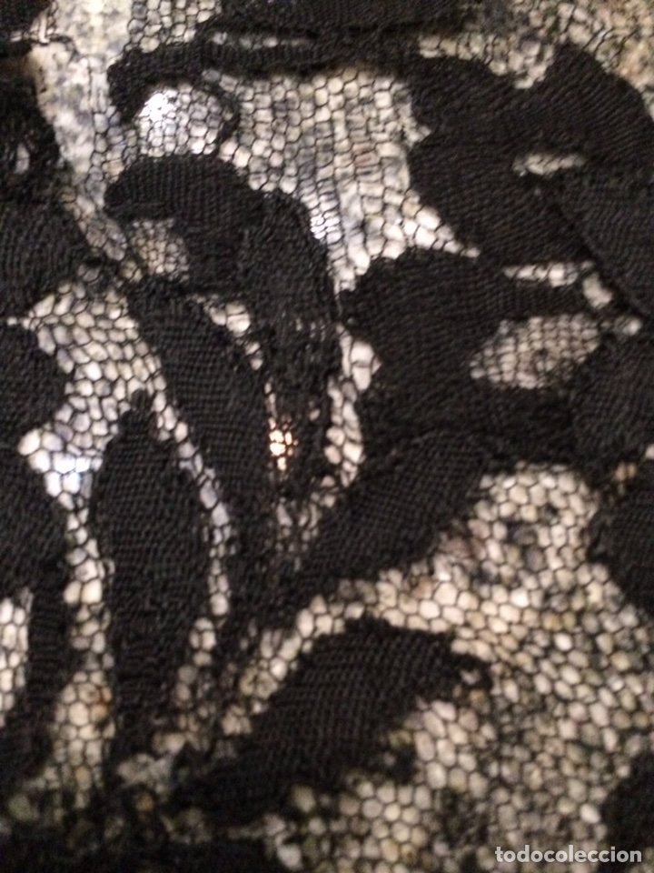 Antigüedades: Mantilla negra 195x79cm Rf3 - Foto 6 - 76193930