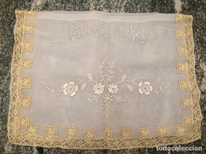FUNDA COJÍN BORDADO (BUENAS NOCHES) (Antiquitäten - Wohnen und Dekoration - Andere Dekoration)