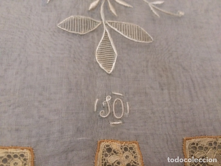 Antiquitäten: Funda cojín bordado (Buenas Noches) - Foto 4 - 76194267