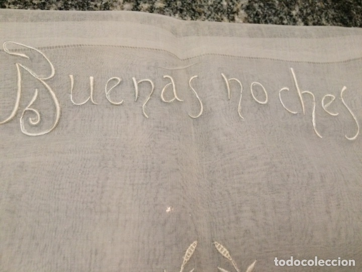 Antiquitäten: Funda cojín bordado (Buenas Noches) - Foto 6 - 76194267