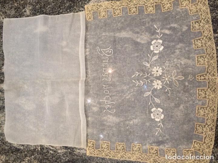Antiquitäten: Funda cojín bordado (Buenas Noches) - Foto 7 - 76194267