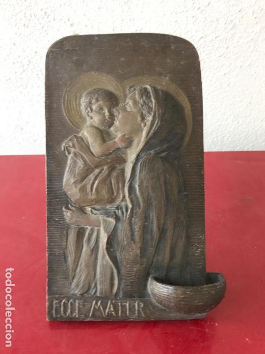 Antigüedades: ESPECTACULAR BENDITERA DE BRONCE FIRMADA 1900,S - Foto 4 - 76223031