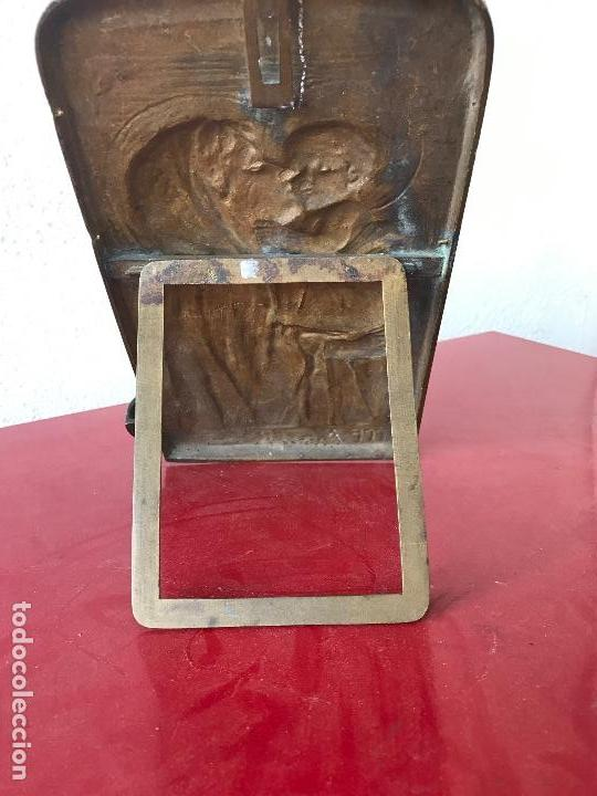 Antigüedades: ESPECTACULAR BENDITERA DE BRONCE FIRMADA 1900,S - Foto 6 - 76223031