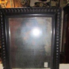Antigüedades: ANTIGUO ESPEJO CON MARCO DE MADERA. MARCO: 37,5 X 48 CMS. ESPEJO: 27 X 37 CMS.. Lote 183707933