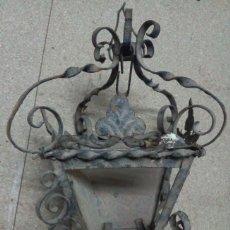 Antigüedades: ANTIGUO FAROL DE FORJILLA PARA RESTAURAR. Lote 76288095