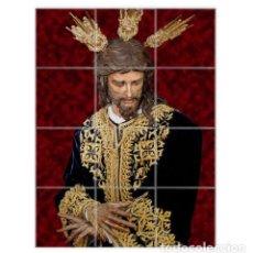 Antigüedades: RETABLO DE 12 AZULEJOS 15X15 CTM DEL CRISTO DE SAN GONZALO DE SEVILLA. Lote 76292687