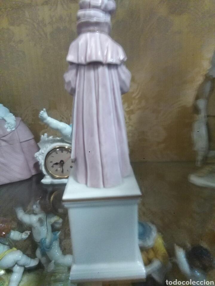 Antigüedades: figura carnaval de porcelana algora - Foto 2 - 76340553