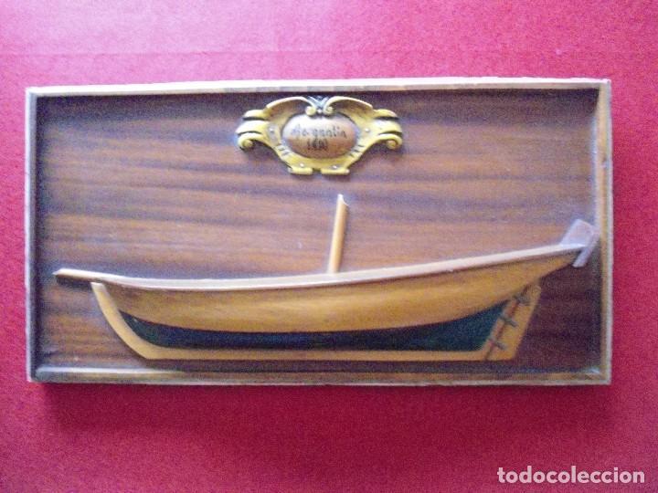 marco de madera con casco de bergantin - Comprar Marcos Antiguos de ...