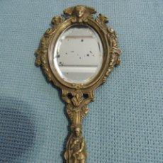 Antigüedades: ESPEJO DE MANO SIGLO XIX BRONCE. Lote 76403399