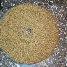 Antigüedades: ESTERA DE ESPARTO O COFIN DE ALMAZARA 57 CM . SIN USAR. Lote 107143331