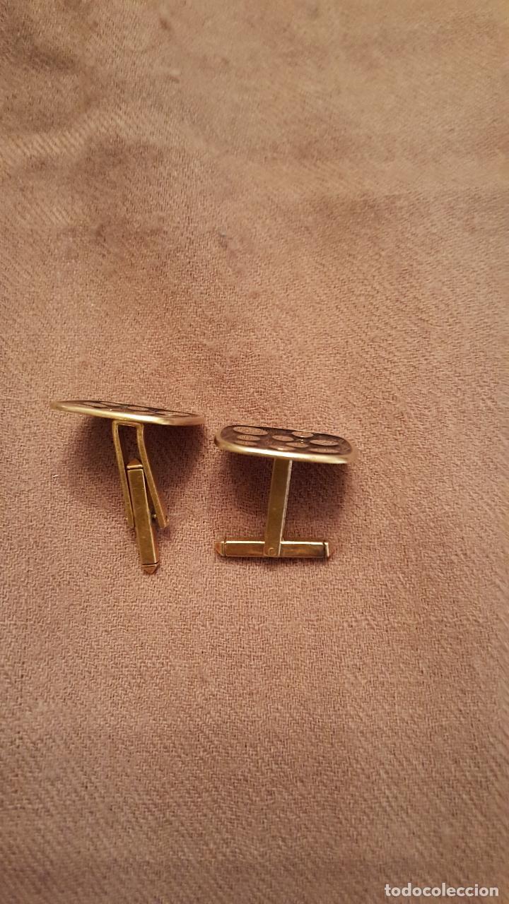 Antigüedades: Gemelos art-deco, en oro - Foto 3 - 76467247