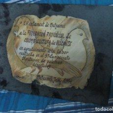 Antigüedades: ANTIGUA PINTURA ESCULTURA CERAMICA PALOMA FIRMADO ILEIBLE PALOMOS DEPORTIVOS ALICANTE. Lote 76488079