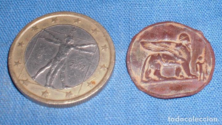 ANTIGUA PLACA ESFINGE MOTIVO EGIPCIO (Antigüedades - Varios)