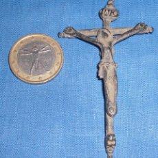 Antigüedades: MAGNIFICO CRUCIFIJO REMACHADO SIGLO XVI. Lote 76545855