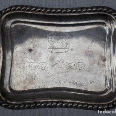 Antigüedades: BANDEJITA PLATEADA - BURGER KING - 50 PARA EL 90 - B.I.M. MADRID - NOV. 87. Lote 76549571