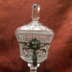Antigüedades: BOMBONERA CRISTAL. Lote 76555314