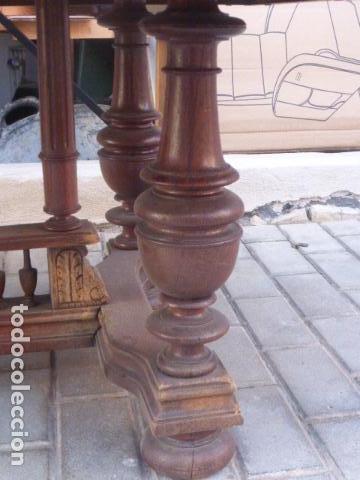 Antigüedades: ANTIGUA MESA DE CENTRO DE MADERA DE ROBLE. LIQUIDACION POR CIERRE. - Foto 7 - 76582071