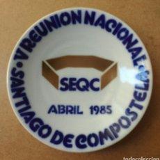 Antigüedades: SARGADELOS PLATO CERÁMICA SEMINARIO LAB. CASTRO SANTIAGO 1985. Lote 76598415