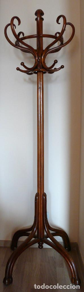 IMPONENTE PERCHERO ORIGINAL DE MICHAEL THONET S.XIX COAT RACK BENTWOOD. SOMBRERERO. MARCADO EN BASE. (Antigüedades - Muebles Antiguos - Auxiliares Antiguos)
