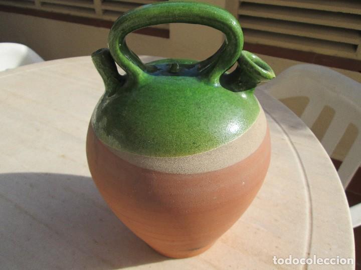 Antigüedades: buen botijo de barro 28 centimetros de alto - Foto 3 - 76661327