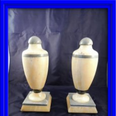 Antigüedades: BONITAS COPAS O ADORNOS DE MARMOL MACIZO ART DECO . Lote 76684375