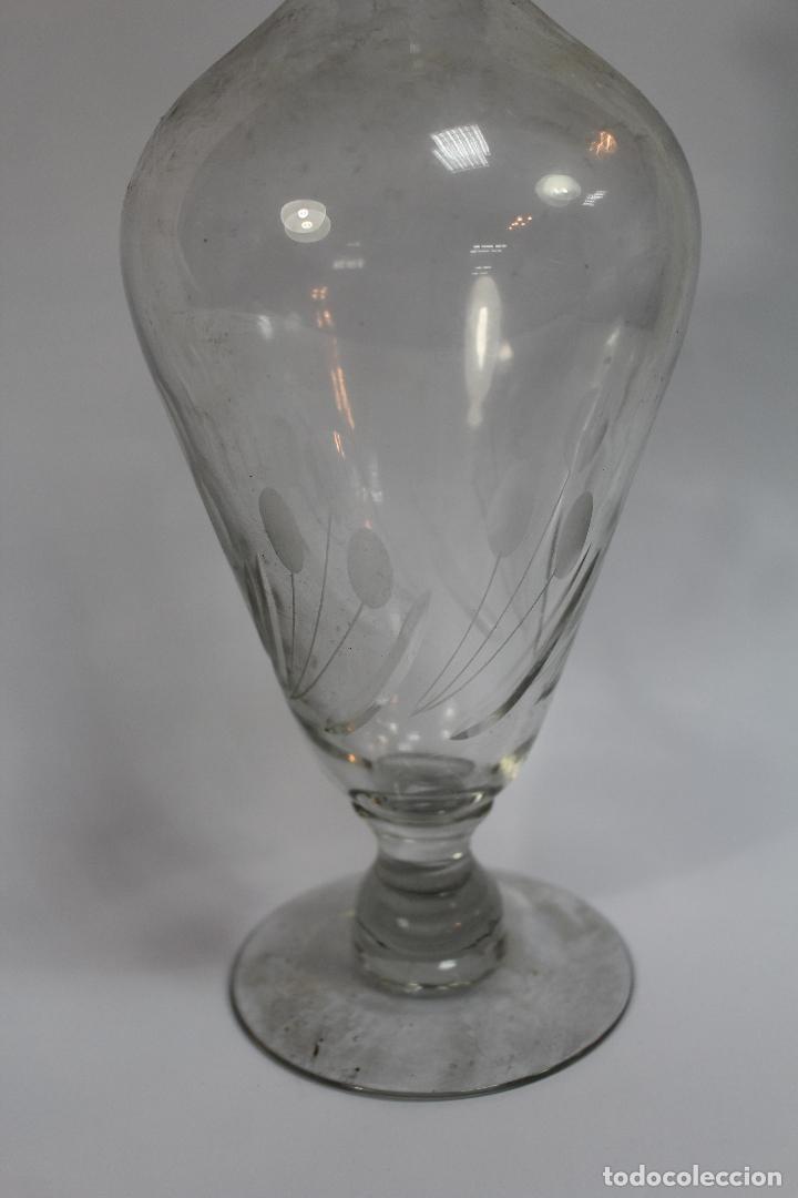 Antigüedades: botella licorera en cristal de santa lucia - cartagena - Foto 3 - 76699363