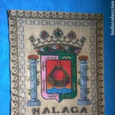 Antigüedades: REPOSTERO CON ESCUDO MALAGA. Lote 76707719