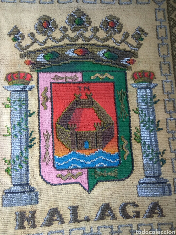Antigüedades: REPOSTERO CON ESCUDO MALAGA - Foto 5 - 76707719