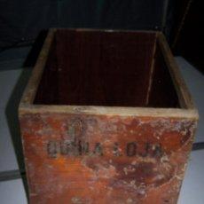 Antigüedades: CAJÓN DE FARMACIA, FRENTE ESCRITO FOL. BELLADONA. COLA DE MILANO, PARA RESTAURAR. 41 X 29 X 25,50 CM. Lote 76738515
