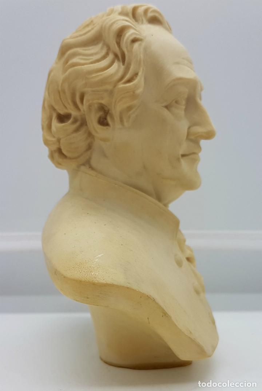 Antigüedades: Busto antiguo del famoso poeta Johann Wolfgang von Goethe,tallado y firmado por A. Giannelli . - Foto 2 - 211436656