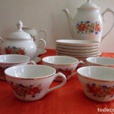 Antigüedades: JUEGO DE CAFÉ SANTA CLARA (VER FOTOS). Lote 76793111