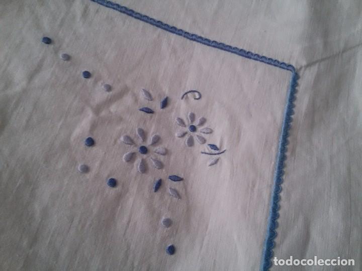 Antigüedades: CONJUNTO DE SÁBANA CIMERA Y FUNDA-BORDADA A MANO-182X234 CM - Foto 7 - 76797871