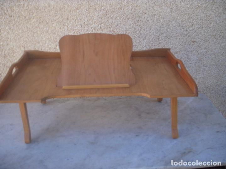 Mesa o bandeja para cama con atril incorporado vendido - Mesa auxiliar de cama ...