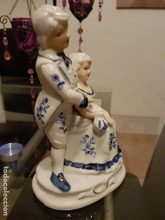 Antigüedades: Figura antigua de porcelana policromada años 60- 70 - Foto 3 - 76809775