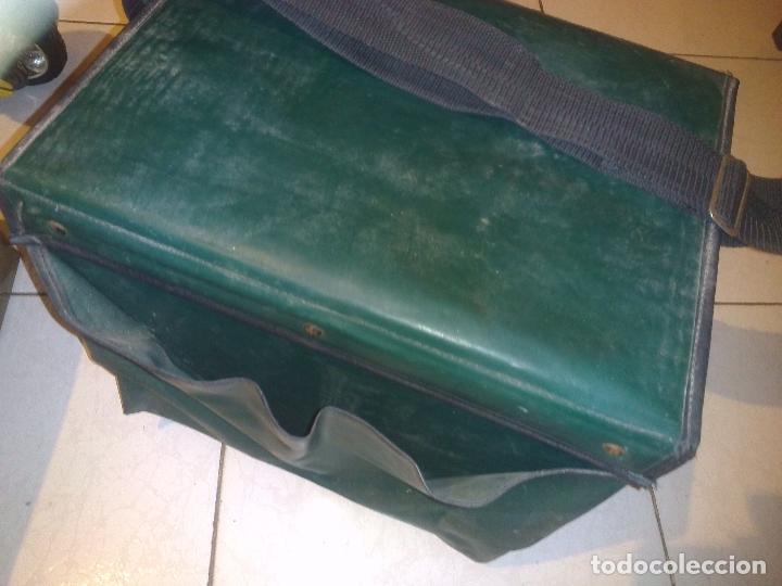 Antigüedades: Caja/Asiento de pesca con accesorios - Foto 9 - 76812459