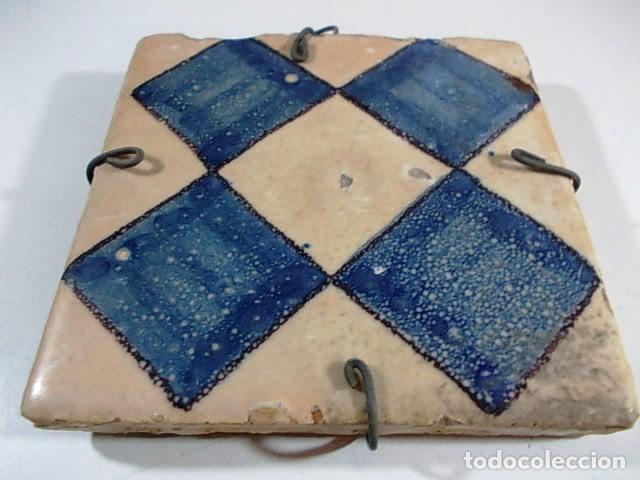 antiguo azulejo decoracion de rombos en azul Comprar Azulejos