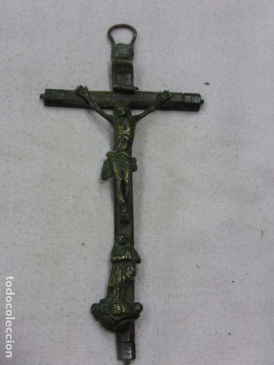 Antigüedades: ANTIGUA CRUZ PECTORAL-BRONCE CON FRONTAL-CRUZ DE PALOSANTO - PRECIOSA PÁTINA - ORIGINAL S. XVI - - Foto 2 - 76876583