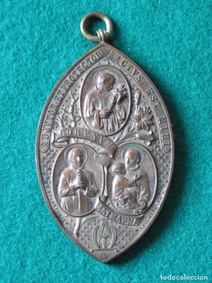 MEDALLA CONGREGACIÓN MARIANA SJ - PRINCIPIO SIGLO XX - BRONCE - CON ARGOLLA - FIRMADA - (VER DESC) (Antigüedades - Religiosas - Medallas Antiguas)