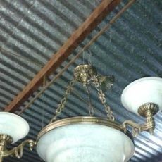 Antigüedades: LÁMPARA DE BRONCE. Lote 76885329