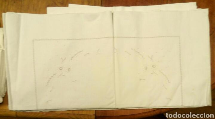 Antigüedades: Juego sabana y funda almohada algodon tolra sabanas - Foto 2 - 76893882
